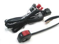 Complete Spot Fog Light Wiring Loom Harness Switch Kit - Universal