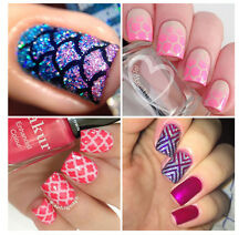 Useful Mermaid Scale Style Nail Art Vinyl Stencil Guides Tips Manicure Stickers