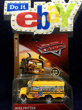 Disney Cars 3 Miss Fritter School Bus Thunder Hollow Diecast Toy Yellow Rare AUS
