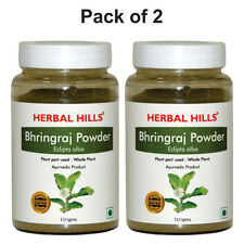 Herbal Hills Bhringraj Powder Pack of 2 - 100 gms each  for Hair Care