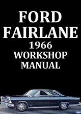 FORD FAIRLANE WORKSHOP MANUAL: 1966