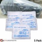 Clear Plastic Disposable Car Cover Temporary Universal Garage Rain Dust 5pack Us