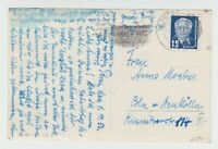 Postkrieg - DDR-Westberlin - 1.10.1953, PK aus Potsdam - Werbestempel geschwärzt