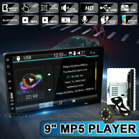 """1 Din 9""""Car FM MP5 Player Touch Screen Stereo Radio Bluetooth Mirror Link+Camera"""