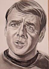 "ORIGINAL ACEO sketch card STAR TREK James Doohan ""SCOTTY"""