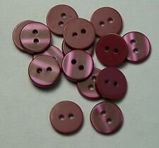8pc 16mm Poppy Red Cardigan Shirt Trouser Skirt Kids Baby Sewing Buttons 0191