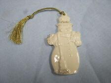 Vintage Lenox Porcelain China Snowman Christmas Ornament