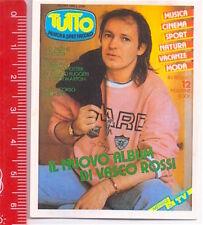 TUTTO 80s italy sticker - autocollant - figurina VASCO ROSSI n. 58