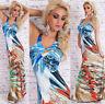 Women's Summer open back Boho maxi Dress Padded Bust One Size fits UK 8/10/12