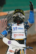 More details for greg hancock hand signed 12x8 photo speedway champion 5.