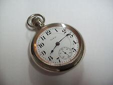 "18s Elgin Father Time  "" Grade 252  "" 21 Jewel Railroad Pocket Watch"