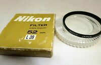 Nikon 52mm L39 UV haze lens filter made in Japan genuine vintage boxed for 50mm