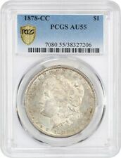 1878-CC $1 PCGS AU55 - Popular First-Year Carson City Morgan