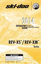 Ski Doo Rev XS XM 2014 GSX LE MX Z TNT X RS SUMMIT SP Printed Owners Manual