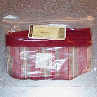 Longaberger Holiday Stripe DARNING Basket Liner ~ Brand New in Original Bag!