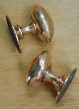 Vintage Solid Brass Door Knobs Antique Reclaimed & Restored Mortice Handles