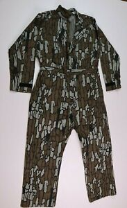 Vintage Walls Mens Large Chest 42-44 TREBARK Camo Coveralls Hunting Made In USA