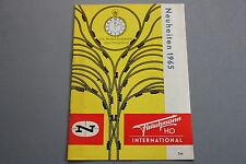 X043 FLEISCHMANN Train catalogue Ho 1965 12 pages 20,5*14,5 D Neuheiten Katalog