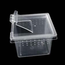 3x Feeding Container Reptiles Snakes Insects Spider Breeding Tanks Box ss