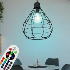 RGB LED Péndulo Luz Techo Regulable Salón Control Remoto Jaula Lámpara Colgante