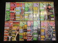 Complete Lot of 12- HIGH TIMES MAGAZINE 2010 Jan-Dec Issues VG+ Marijuana Weed
