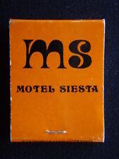 MOTEL SIESTA BULLRING BISTRO 416-422 WAGGA RD LAVINGTON 254555 MATCHBOOK