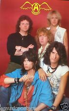 "AEROSMITH ""YOUNG SHOT OF BAND & CLASSIC OLD LOGO"" POSTER-Steven Tyler, Joe Perry"