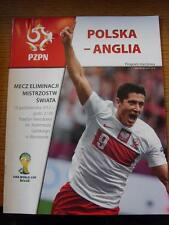 17/10/2012 Poland v England [At Stadion Narodowy] Programme Dated 16/10/2012 But