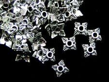 100 x Plata Tibetana Pequeño delicada 6mm Tapas de joyería del grano hallazgos Artesanía Q99