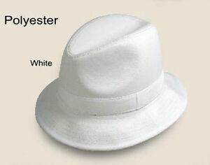New Men's Fedora Trilby Hat Color White/Khaki/Brown/Gray/Black Size M L XL LH-2