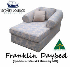 AUSTRALIAN MADE Franklin (Warwick fabric) Daybed Chaise Sofa Lounge Couch