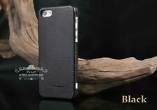 Iphone 5/5s/SE Genuine Leather Hand Crafted Case, Horizontal Flip Design, Black.