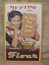 Vintage Retro look decor Flour Baked Goods Tin Metal Sign New Kitchen