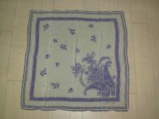 Foulard Carré de Soie BLEU MARINE DESIGN - bleu - floral