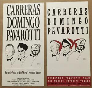 LUCIANO PAVAROTTI Jose Carreras PLACIDO DOMINGO 2 SIDE PROMO POSTER FLAT 4 93 CD