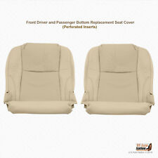 LEFT-RIGHT Bottom Perforated Leather Tan Cover Fits 2010 2011 Lexus IS250 IS350