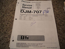 PIONEER DJM-707 DJ MIXER SERVICE REPAIR MANUAL