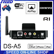 New ONKYO DS-A5 Wireless AirPlay RI Dock - works with any AV Receivers