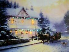 "LED Wandbild Leuchtbild ""Villa"" Bild Leinwandbild Beleuchtung 40x30 cm WF-06 NEU"