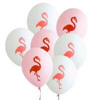 6PCS 12inch Flamingo Latex Balloons Pineapple Birthday Hawaiian Party Decor