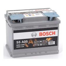 Batteria Auto Bosch S5A05 Start&Stop AGM 0092S5A050 12v 60Ah 680A VW Audi Varta