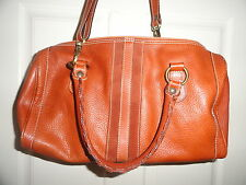 Authentic LAI Couture Designer Large Tote Handbag Brown Leather Made in Italy