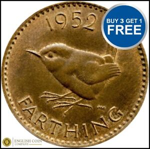 Farthing 1937 to 1956 Elizabeth and George VI Choice of Date