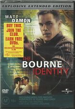 THE BOURNE IDENTITY. / EXTENDED EDITION DVD MOVIE.( MATT DAMON ). NEW & SEALED