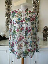 ESSENTIEL ANTWERP Ecru Floral Flowing Oversized Tunic Top Shirt D38 12 14