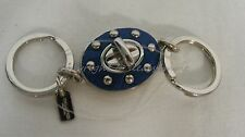 NEW! Coach Key Ring 63628 Rivet Valet Keyring/Key chain Key Fob. Blue & Silver