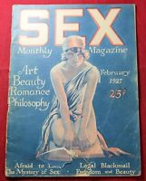 1927 SEX Monthly Magazine - February - Pulp - Women - RARE - Vintage