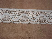10 Yards IVORY 2 1/2 Inch In Wide Lace  NEW