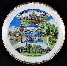 """14066 VINTAGE 8"""" PORCELAIN VICTORIA CANADA SOUVENIR PLATE"""