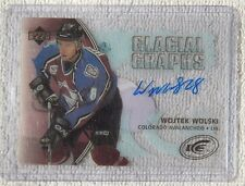 Colorado Avalanche Wojtek Wolski Signed 05/06 Upper Deck Ice Glacial Graphs Auto